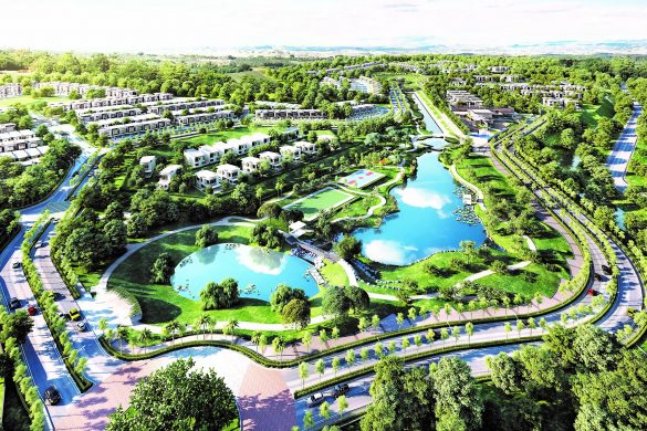 Tropicana Heights at Kajang featuring Central Park aerial view