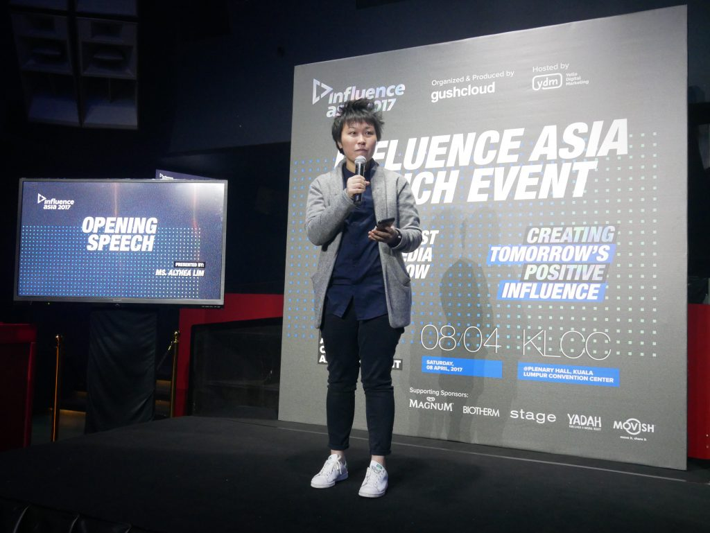 Opening speech by Althea Lim, Executive Producer of Influence Asia 2017