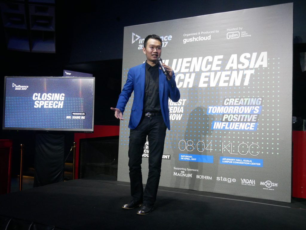 Siang Ng, Executive Co-Producer of Influence Asia 2017 during his closing speech