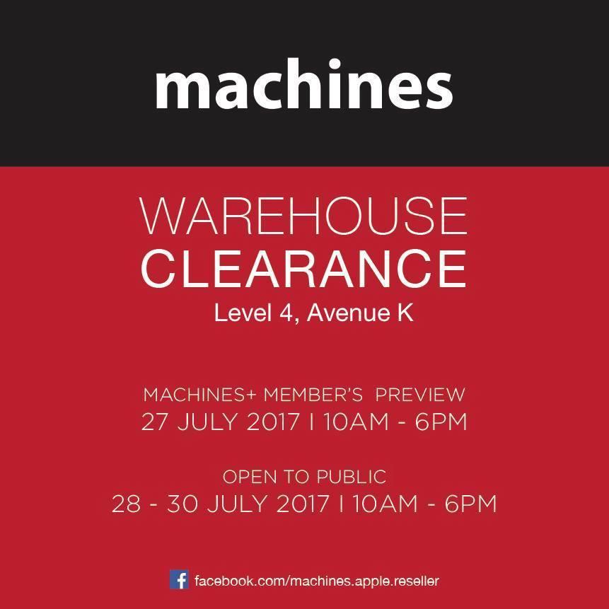 Machines warehouse sale