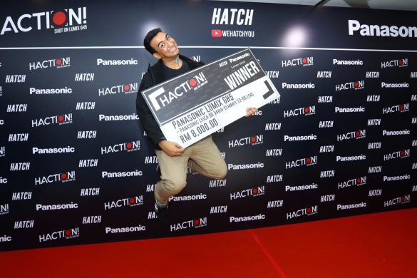 21-year-old Sherwynn Victor jumped in excitement after winning the 'HACTION! Shot on LUMIX GH5' short film competition with his engaging short film 'Aku Masih Ingat' (I Still Remember)