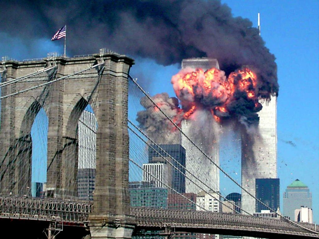 Image of the 9/11 attack on September 11, 2001