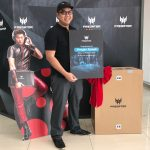 Arsyan Ismail with his newly Predator 21 X