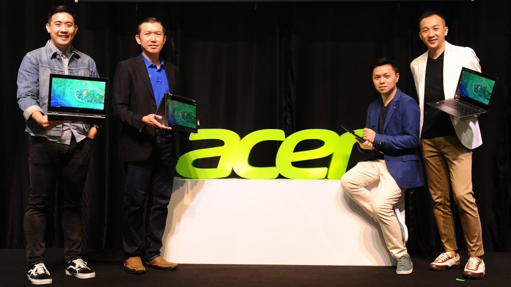 The Product team from Acer Malaysia with the newly launched Acer Spin 5