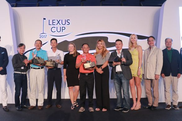 The Malaysian team members are all smiles as they win third consecutive Lexus Cup Championship.