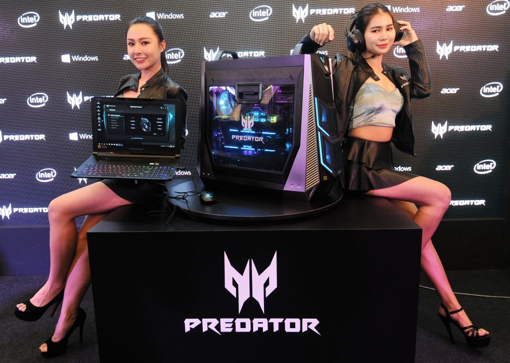 Models with all the newly launched Predator Triton 700 gaming laptop, Predator Orion 9000 gaming desktop, Predator Galea 500 gaming headset