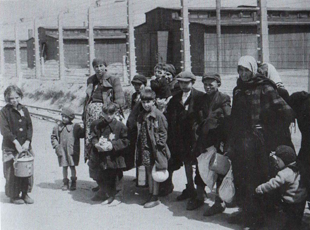 Women and children in Auschwitz Concentration Camp