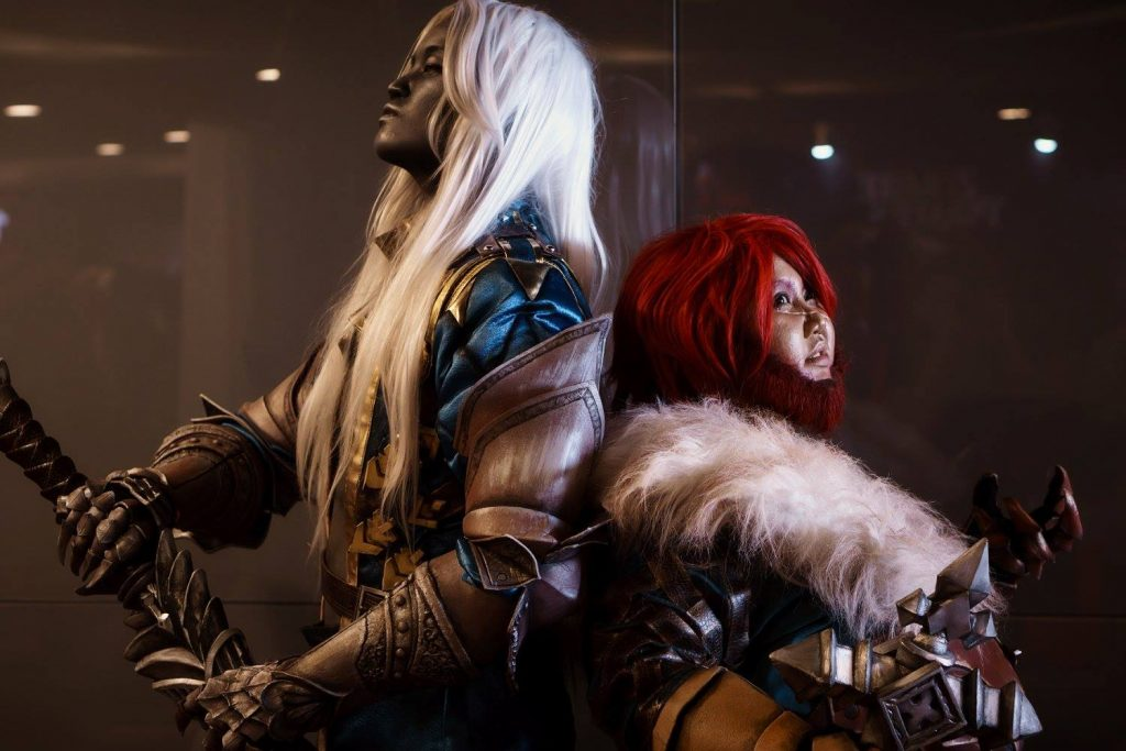 Yuan as Alucard (left) and Sky as Simon Belmont from Dracula: Lords of Shadow 2