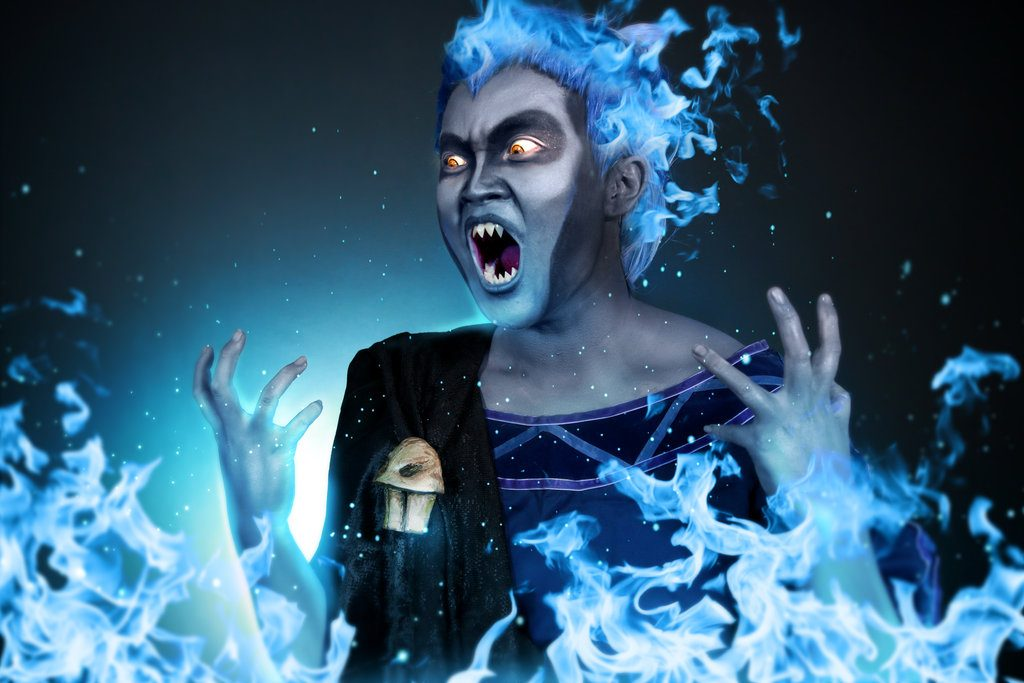 Yuan as Hades, one of the well-known Disney villains.