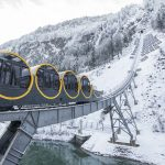 epaselect epa06390812 The new and steepest funicular railway in the world, the Stoos Bahn, is ready for the opening ceremony after five years of construction, in Stoos, Switzerland, 15 December 2017.  EPA-EFE/URS FLUEELER