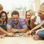 Family-Playing-Board-Game