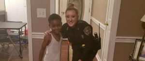 TyLon and Officer Lauren Devell