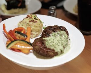 Sirloin Steak with Chicken Bacon Chive Butter