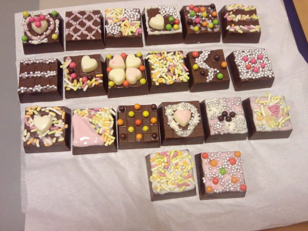 Chocolates that are handmade by the Japanese woman