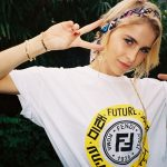 01_FISFORFENDI_Caro Daur wearing The Rinf of The Future t-shirt