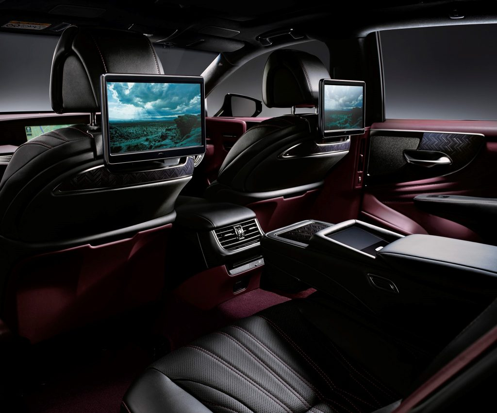 Mark Levinson Sound System and LCD Display in the Lexus LS 500