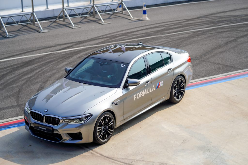 An exterior view of the new BMW M5