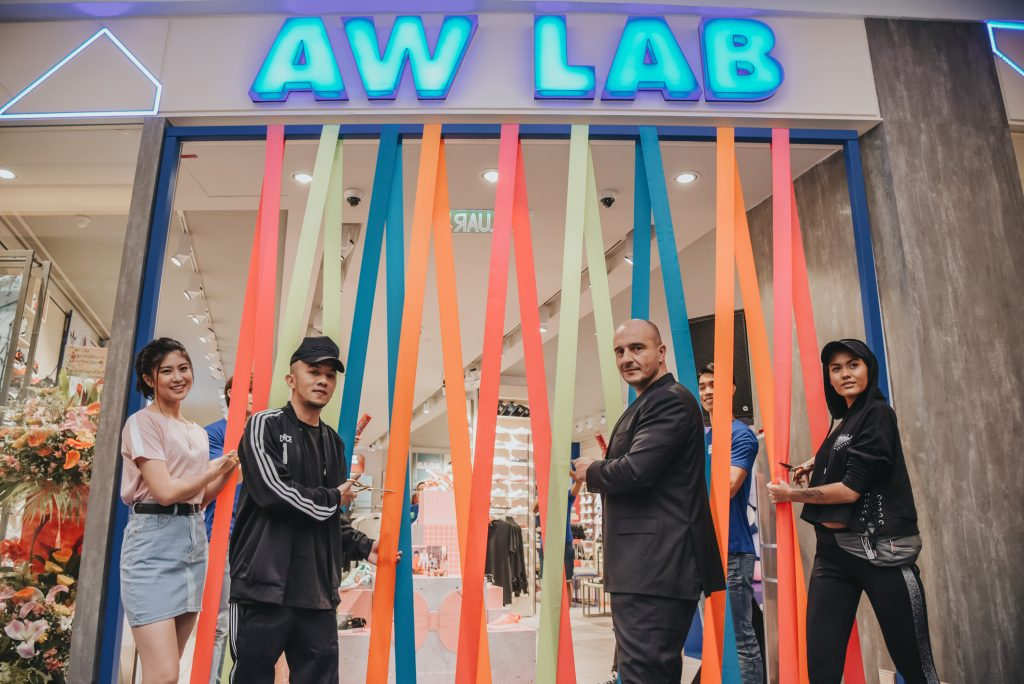 (From left to right) Elizabeth Tan, Caprice, Giuseppe Nisi - Head of Asia of AW LAB and Alicia Amin officially launched the first flagship store in Malaysia