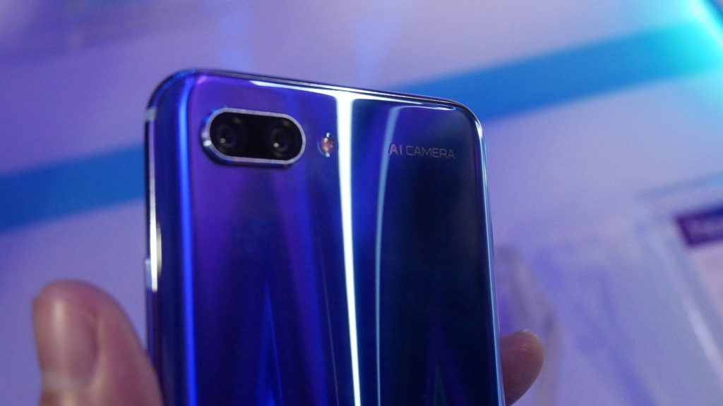 The dual camera lens seen on the rear perspective