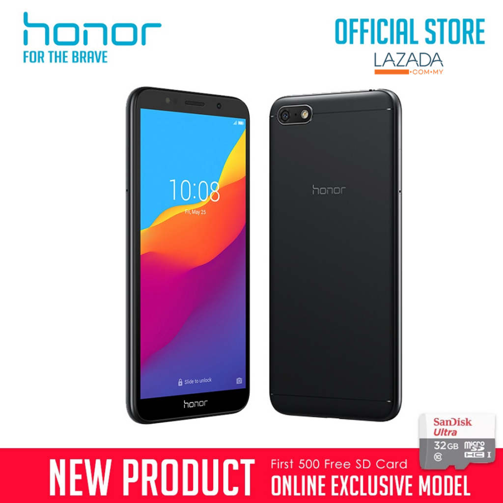 honor 7s black r1