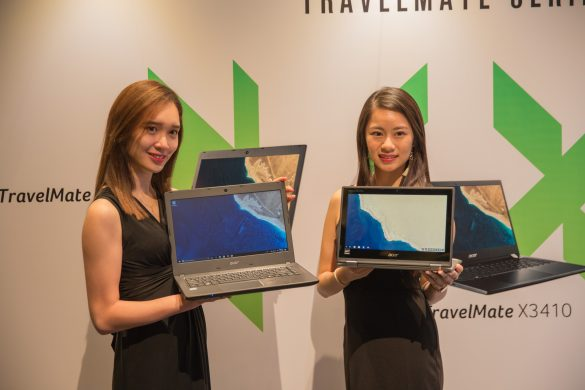 Acer Event-007 Models with the TravelMate Series laptop and Chromebook Spin 11 (right)