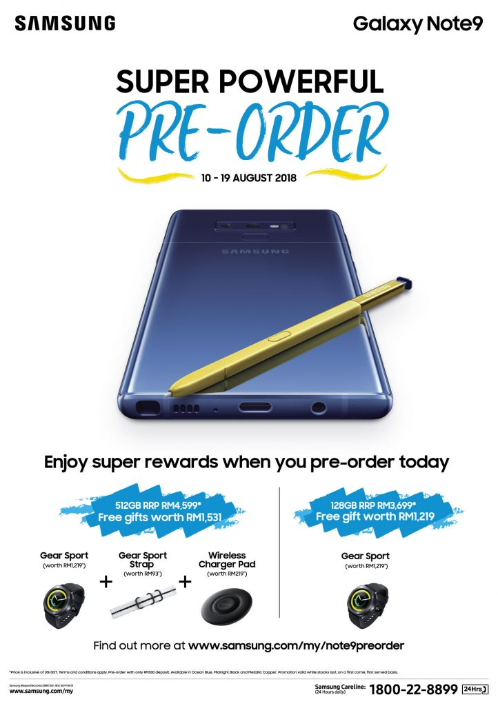 Samsung Galaxy Note9 Pre-order_EN