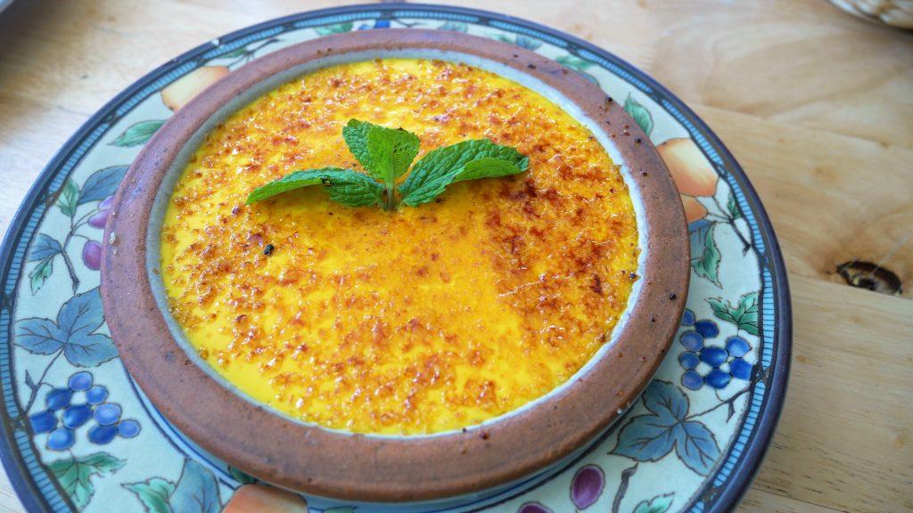 caramalized custard