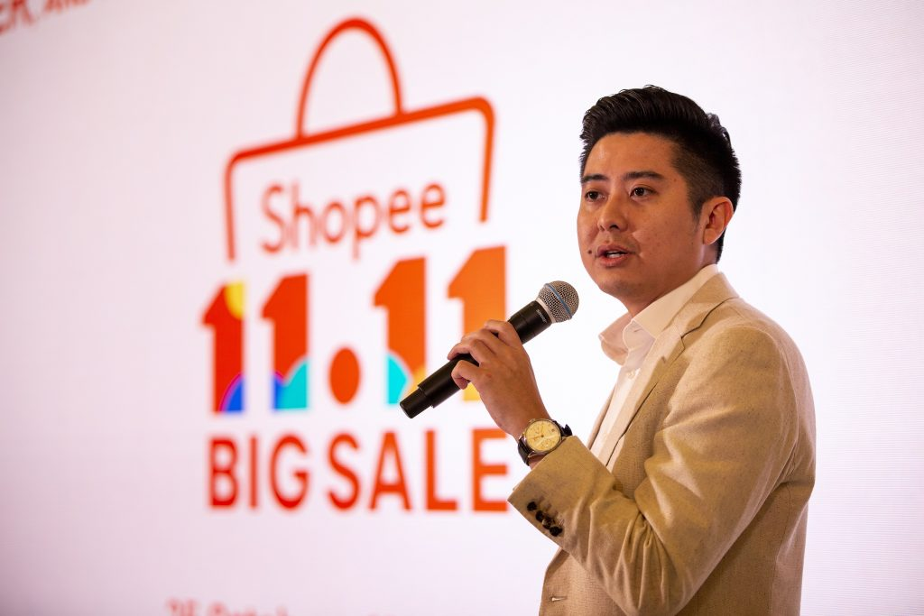 Ian Ho, Regional Managing Director of Shopee highlighting the exciting lineup of events and activities that are in-store for shoppers this Shopee 11.11 Big Sale.