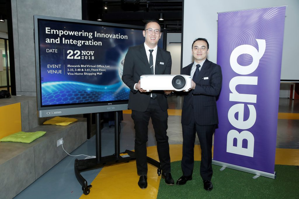 (right) Jeffrey Liang, President of BenQ Asia Pacific.