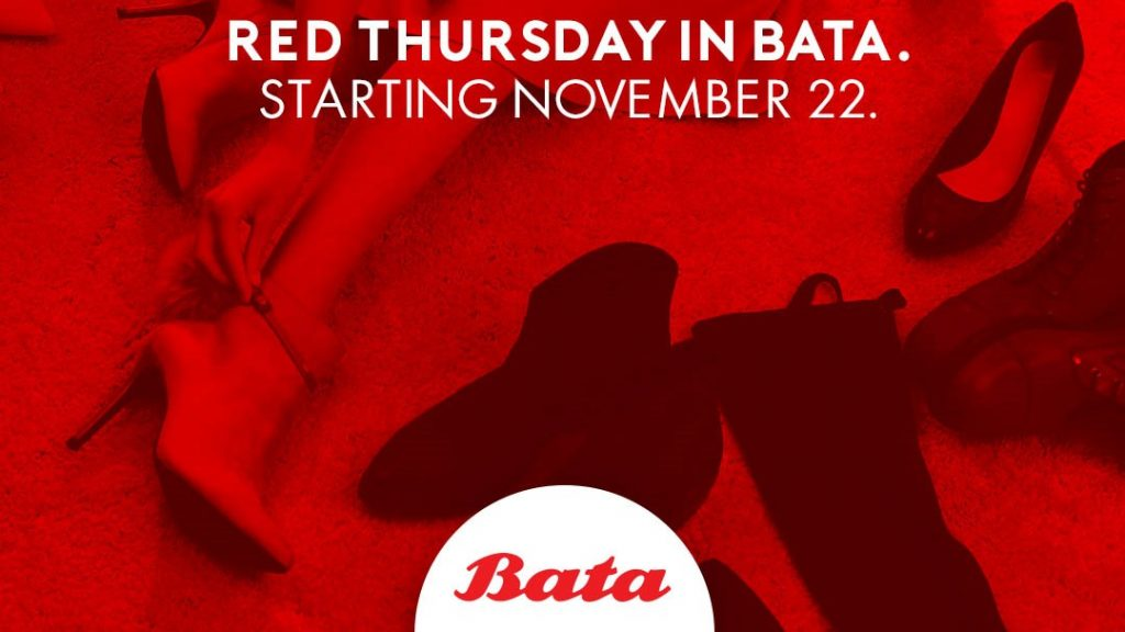 30% Discount and Buy 2 Free 1 Sale In Bata's Red Thursday!