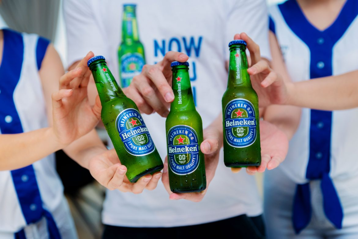 Heineken® 0.0 will be available nationwide in bars, restaurants and stores and on Heineken®'s e-commerce site, Drinkies in a 250ml bottle that contains only 53 calories per serve.