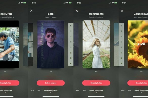 Photo Templates Feature on TikTok