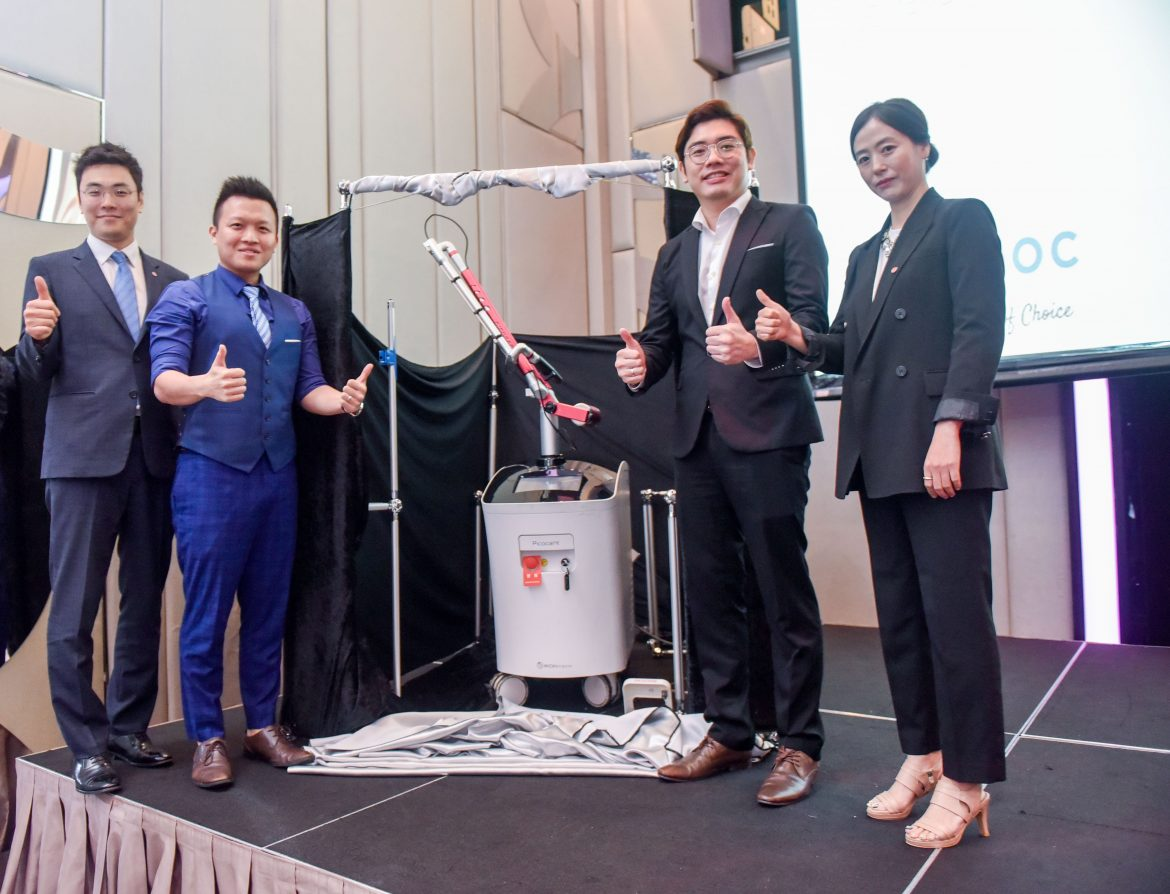 __LtoR Pico Laser Unveiling _ Mr Isaac Jang, Dr. Michael Ong, Dr. Terrence Teoh, Ms Genie Jung