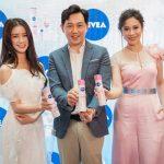 5. L-R Joey Chua, Ng Hock Guan and Farah Nabilah at the NIVEA Whitening Deep Serum launch yesterday