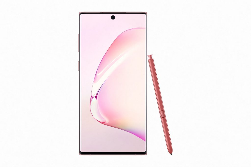 Galaxy Note10_Aura_Pink_Front