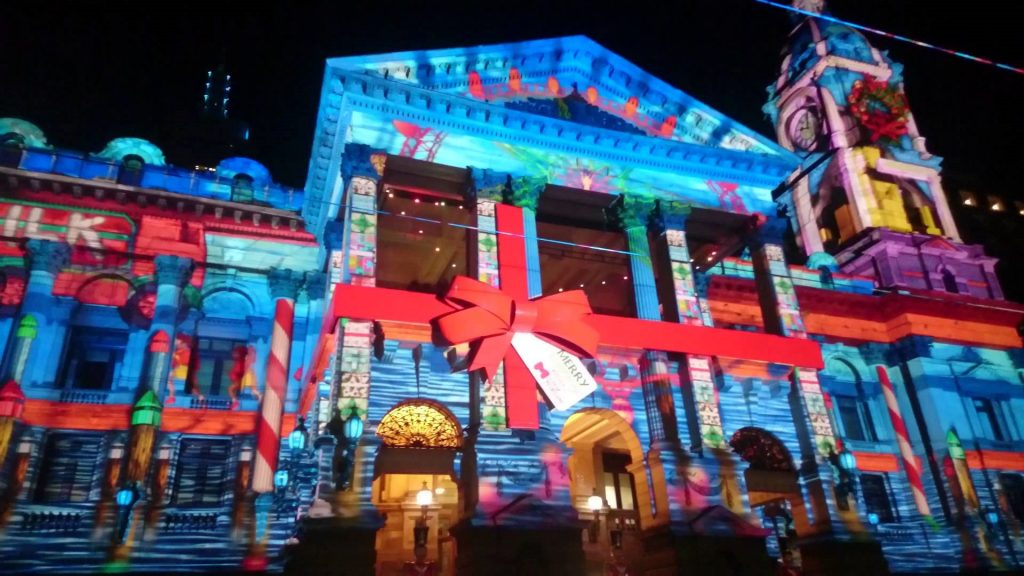 building projection mapping
