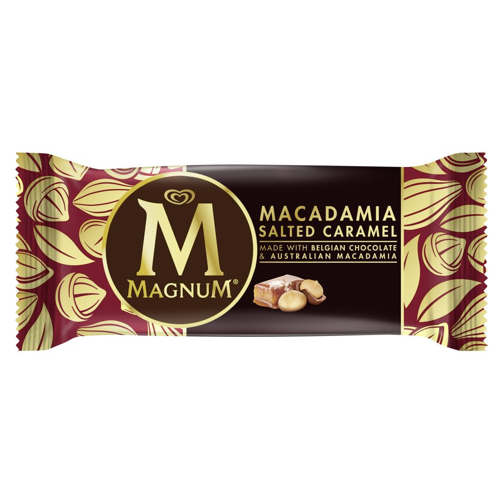 Magnum Macadamia Salted Caramel Single Stick Packaging
