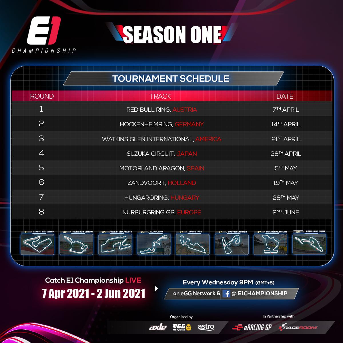 E1 Championship Tournament Schedule