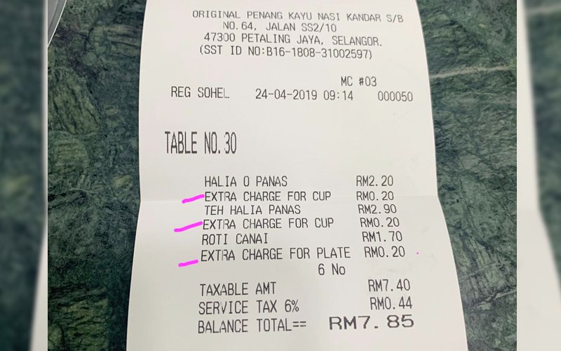 Main Reason Why This Famous Eatery Is Charging For Extra Cups and Plates